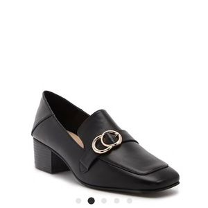 faux leather o-ring loafers